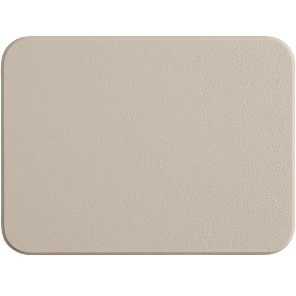 """Tomlinson Chef's Edge 8"""" x 6"""" x 1/2"""" Brown Polyethylene Cutting Board"""