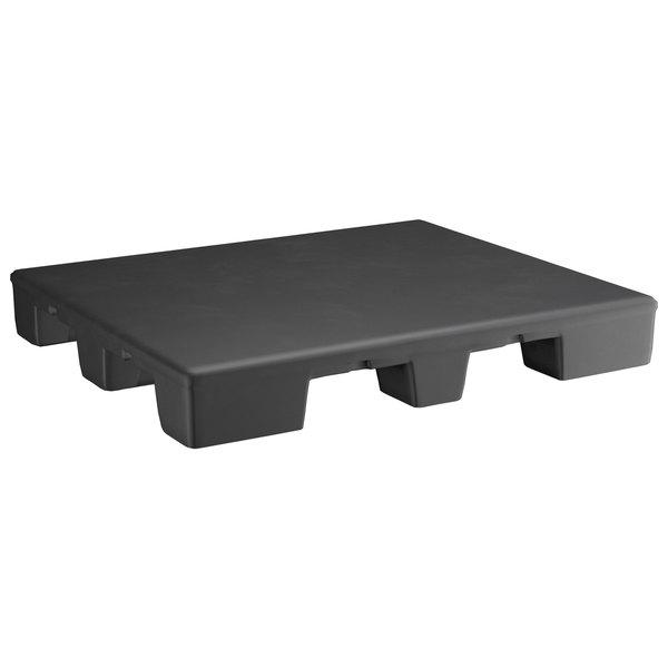 "Regency 48"" x 40"" x 6"" Black Plastic End Cap / Spot Merchandiser - 2000 lb. Capacity Main Image 1"