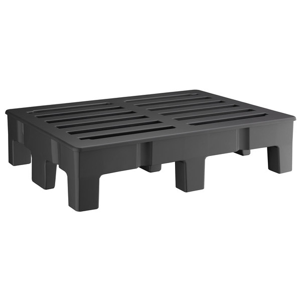 """Regency 48"""" x 36""""x 12"""" Black Plastic Heavy-Duty Dunnage Rack with Slotted Top - 2500 lb. Capacity Main Image 1"""