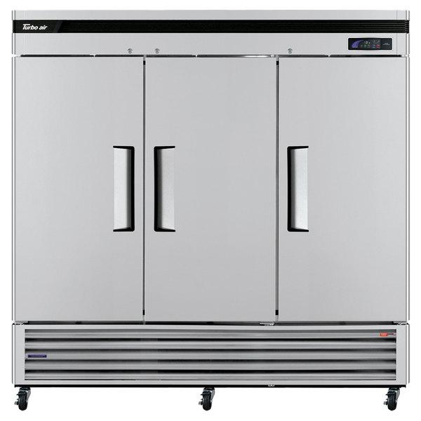 "Turbo Air TSF-72SD Super Deluxe 82"" Solid Door Reach In Freezer"
