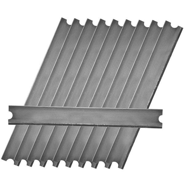 """Unger MDSB0 6"""" Dual Sided Replacement Blades for Unger MDSC0 Medium Duty Floor Scraper - 10/Pack"""