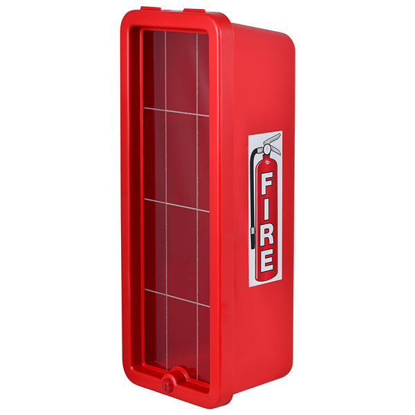 Cato 11051-O Chief Red Surface-Mounted Fire Extinguisher Cabinet for 10 lb. Fire Extinguishers Main Image 1
