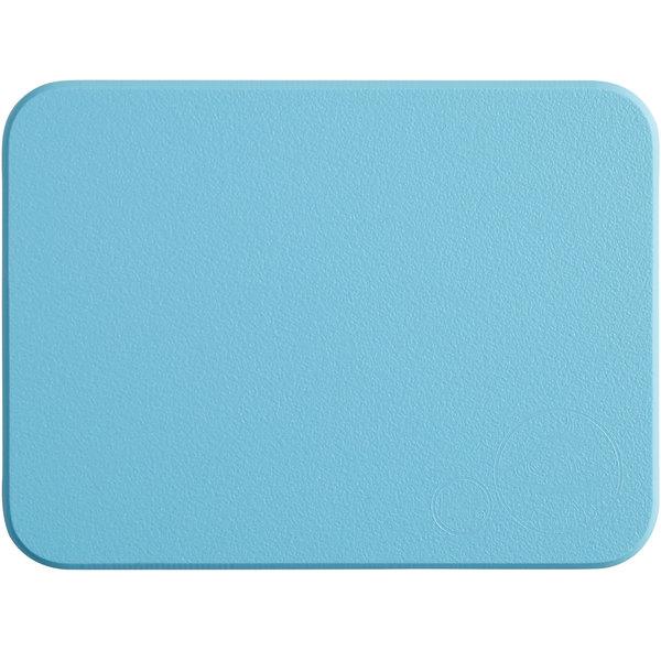 """Tomlinson Chef's Edge 8"""" x 6"""" x 1/2"""" Blue Polyethylene Cutting Board Main Image 1"""