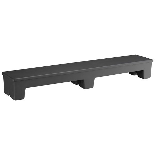 """Regency 60"""" x 12"""" x 8"""" Black Plastic Narrow Dunnage Rack with Solid Top Main Image 1"""
