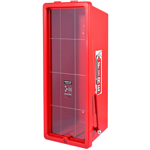 Cato 12051-H Chief Red Surface-Mounted Fire Extinguisher Cabinet with Hammer Attachment for 20 lb. Fire Extinguishers Main Image 1