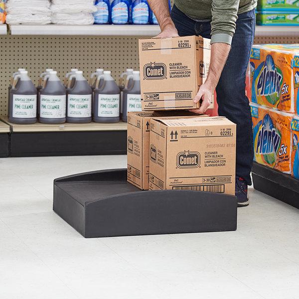 "Regency 26"" x 23"" x 7"" Black Plastic Spot Merchandiser with Curved Sides - 750 lb. Capacity Main Image 5"