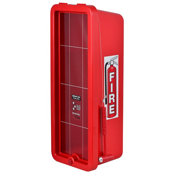 Cato 11051-H Chief Red Surface-Mounted Fire Extinguisher Cabinet with Hammer Attachment for 10 lb. Fire Extinguishers Main Image 1