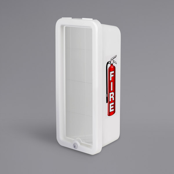 Cato 10501-O Chief White Surface-Mounted Fire Extinguisher Cabinet for 5 lb. Fire Extinguishers Main Image 1