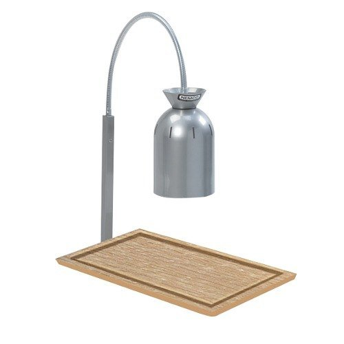 Nemco 6016 Single Bulb Carving Station with Wooden Base - 120V, 250W