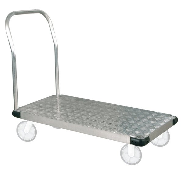 """Wesco Industrial Products 273605 25"""" x 37"""" Thrifty Plate Aluminum Platform Truck - 1200 lb. Capacity Main Image 1"""