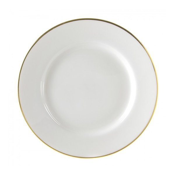 """10 Strawberry Street GL0024 12 1/4"""" Gold Line Charger Plate - 12/Case"""