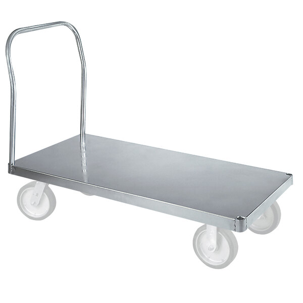 "Wesco Industrial Products 350027 ASD 24"" x 36"" 3000 lb. Smooth Aluminum Platform Truck Main Image 1"