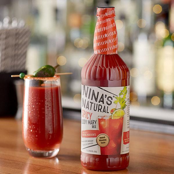Nina's Natural 1 Liter Spicy Bloody Mary Mix Main Image 2