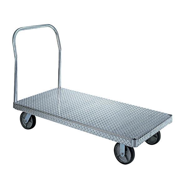 "Wesco Industrial Products 350036 ASD 24"" x 36"" 3000 lb. Slip-Resistant Aluminum Platform Truck Main Image 1"