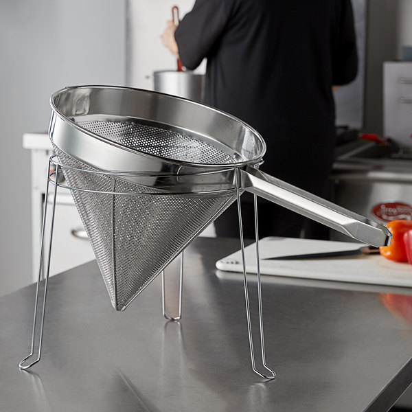 """Choice Strainer Stand for 12"""" China Cap Strainers Main Image 2"""