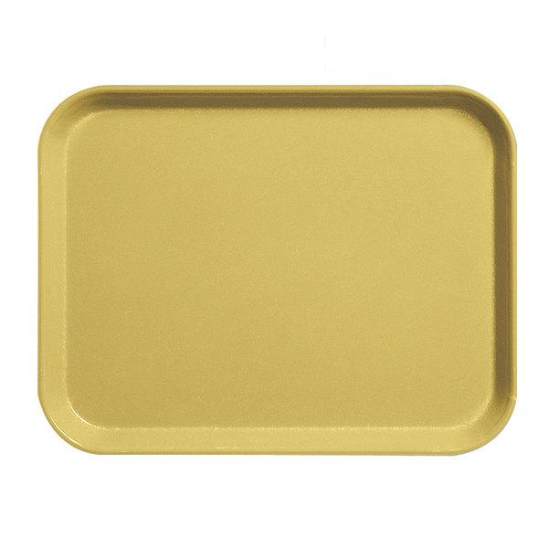 """Cambro 1418CL145 14"""" x 18"""" Yellow Camlite Tray - 12/Case"""