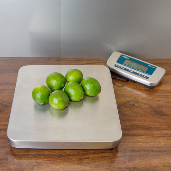 Edlund ERS-60 RB 60 lb. Digital Receiving Scale with Rechargeable Battery Pack Main Image 15