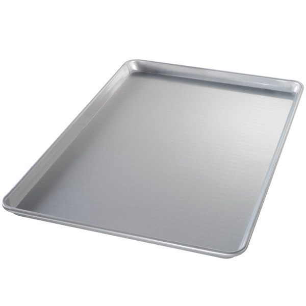"Chicago Metallic 40695 Full Size 16 Gauge Glazed Aluminum Customizable Sheet Pan - Wire in Rim, 18"" x 26"""