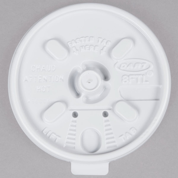 Dart 8FTL Lift'n'Lock Lid - 100/Pack