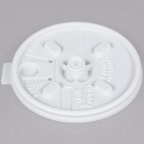 Dart 8FTL White Lift'n'Lock Lid - 100/Pack Main Image 1