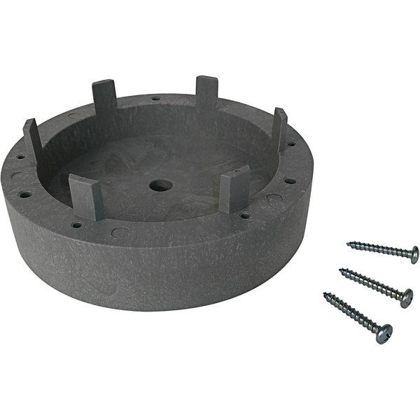 "Carlisle 3613511 1 7/16"" Gray Plastic Rotary Pad Driver Riser Block Main Image 1"