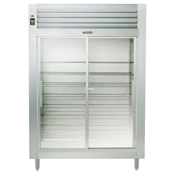 "Traulsen RHT232WUT-FSL 58"" Stainless Steel Sliding Glass Door Reach In Refrigerator - Specification Line"