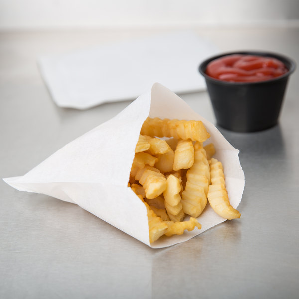 """2000 Case 5 1//2/"""" x 4 1//2/"""" Restaurant Concession Fast Food Large French Fry Bag"""