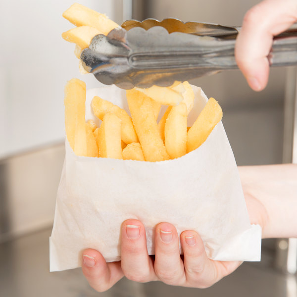 """Carnival King 5 1/2"""" x 4 1/2"""" Large French Fry Bag - 2000/Case"""
