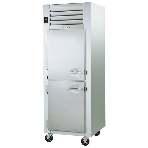 Traulsen G14301 Solid Half Door 1 Section Hot Food Holding Cabinet with Left Hinged Doors Main Image 1