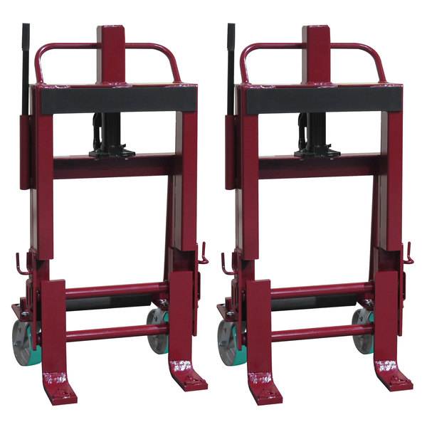 """Wesco Industrial Products 260139 Rais-N-Rol 23"""" x 18 3/4"""" x 43 5/8"""" Machinery Mover with 6"""" Polyurethane Casters - 6,000 lb. Capacity Main Image 1"""