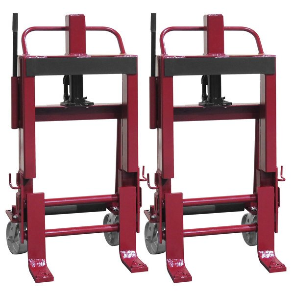 """Wesco Industrial Products 260088 Rais-N-Rol 23"""" x 18 3/4"""" x 41 3/8"""" Machinery Mover with 6"""" Steel Casters - 6,000 lb. Capacity Main Image 1"""