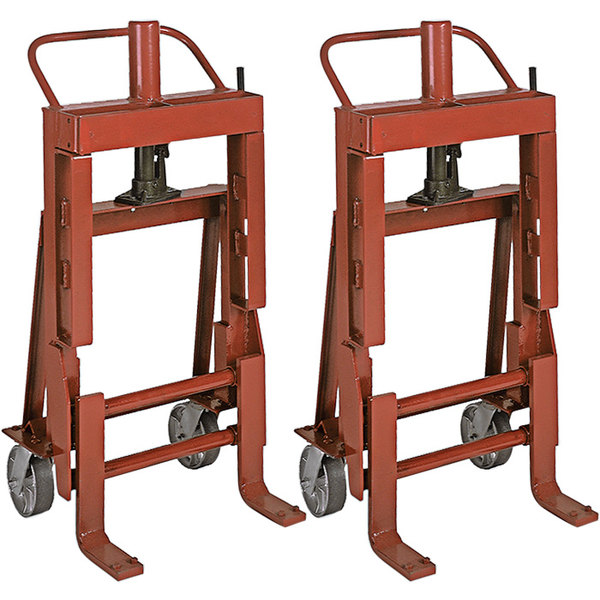 "Wesco Industrial Products 260087 Rais-N-Rol 23"" x 19 3/4"" x 43 5/8"" Machinery Mover with 6"" Steel Casters - 4000 lb. Capacity Main Image 1"