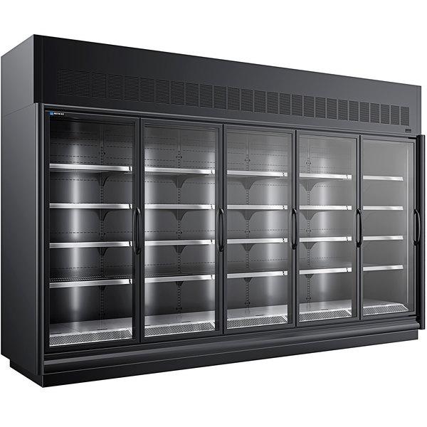 "Master-Bilt BEM-5-30SC-B 154"" Black Glass Door Refrigerated Merchandiser Main Image 1"
