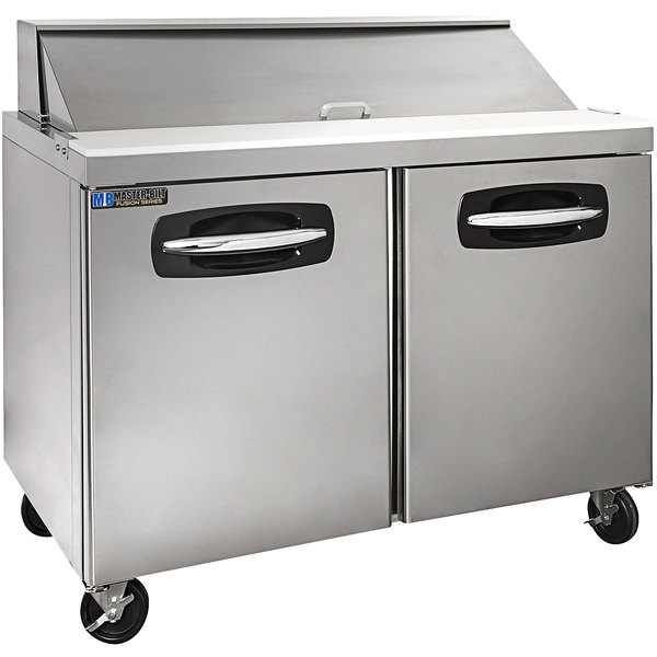 "Master-Bilt MBSP48-12A-019 48"" 2 Door Refrigerated Sandwich Prep Table"