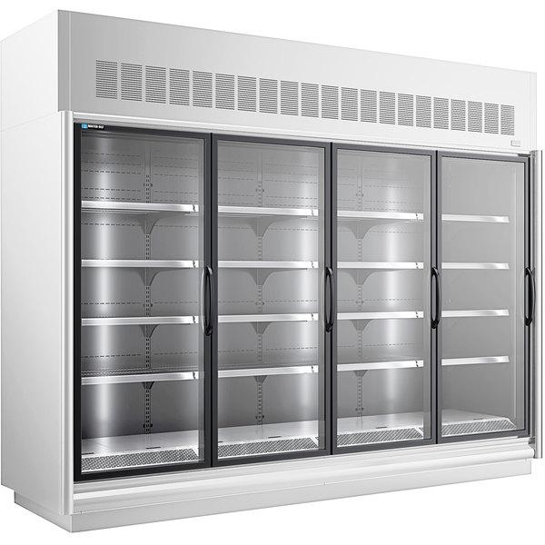 """Master-Bilt BEL-4-30SC-W 123"""" White Glass Door Merchandiser Freezer"""