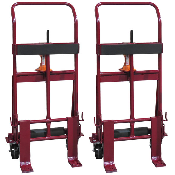 "Wesco Industrial Products 260091 Rais-N-Rol 23"" x 15 1/2"" x 48 3/8"" Machinery Mover with 5"" Polyurethane Casters - 2,000 lb. Capacity Main Image 1"