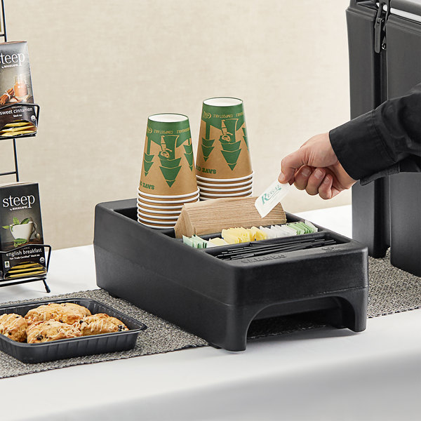 Cambro LCDCH110 Black Condiment Holder for Cambro 250LCD / 500LCD / UC250 / UC500 Main Image 2