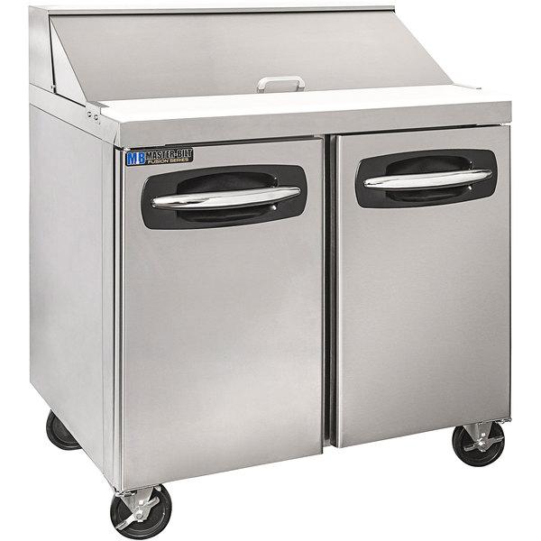 "Master-Bilt MBSP36-10A-019 36"" 2 Door Refrigerated Sandwich Prep Table"