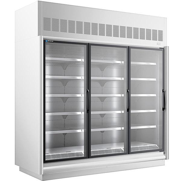"Master-Bilt BEM-3-30SC-W 92"" White Glass Door Refrigerated Merchandiser Main Image 1"