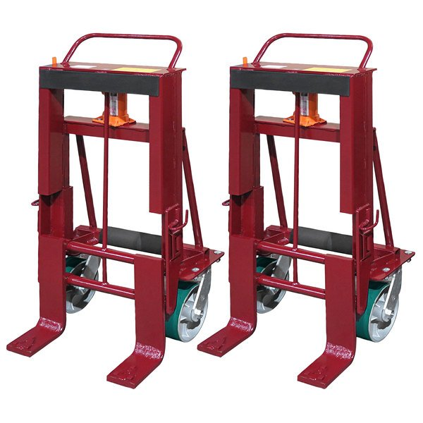 """Wesco Industrial Products 260095 Rais-N-Rol 24"""" x 21 3/4"""" x 47 5/8"""" Machinery Mover with 8"""" Polyurethane Casters - 10,000 lb. Capacity Main Image 1"""