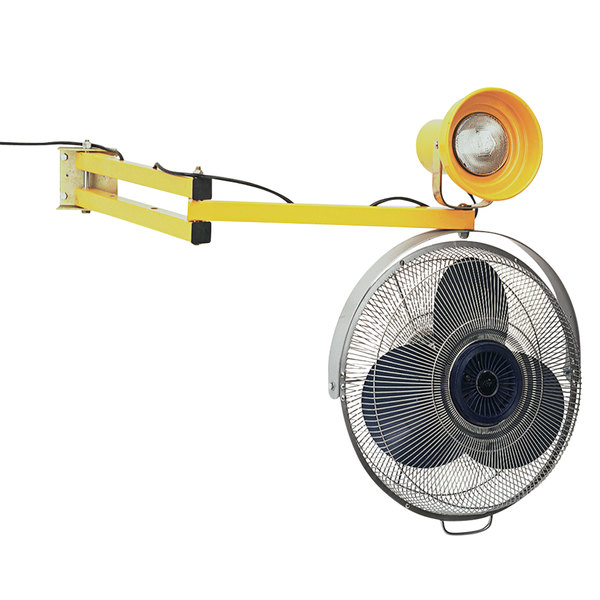 """Wesco Industrial Products 272340 Dock Light and 18"""" Fan with 40"""" Arm Main Image 1"""