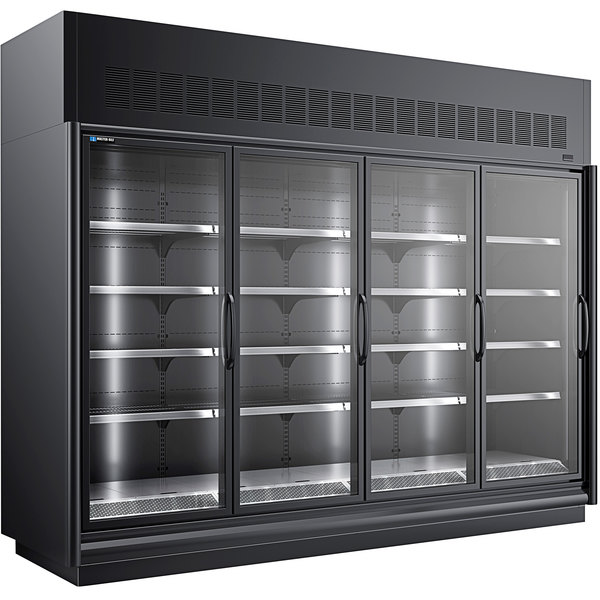 "Master-Bilt BEL-4-30SC-B 123"" Black Glass Door Merchandiser Freezer Main Image 1"