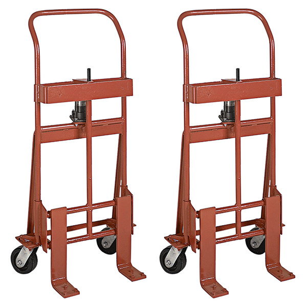"Wesco Industrial Products 260086 Rais-N-Rol 23"" x 15 1/2"" x 48 3/8"" Machinery Mover with 5"" Phenolic Casters - 2000 lb. Capacity Main Image 1"