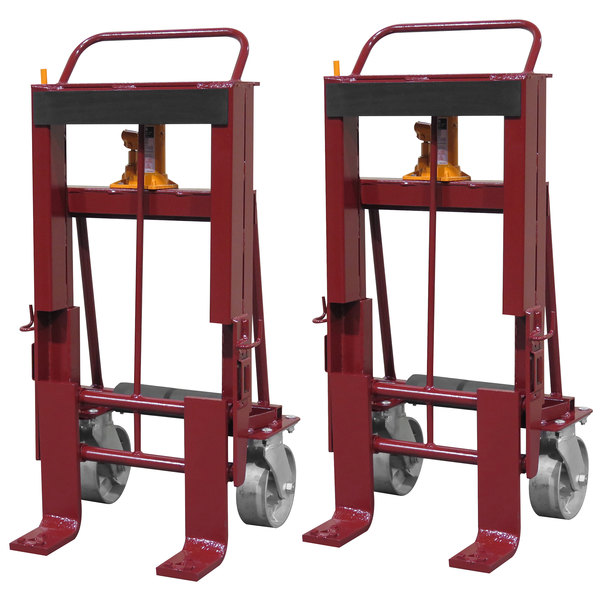 "Wesco Industrial Products 260090 Rais-N-Rol 24"" x 21 3/4"" x 47 5/8"" Machinery Mover with 8"" Steel Casters - 10,000 lb. Capacity Main Image 1"