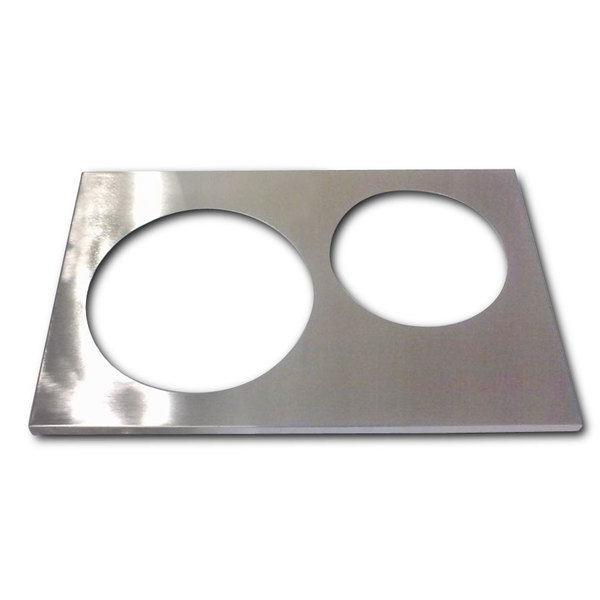 """APW Wyott 14880 2 Hole Adapter Plate with 8 3/8"""" and 10 3/8"""" Openings Main Image 1"""