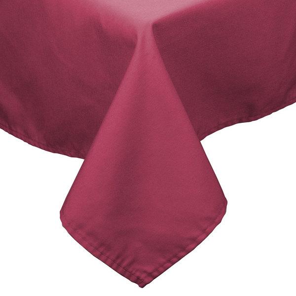 """72"""" x 120"""" Mauve Hemmed Polyspun Cloth Table Cover"""
