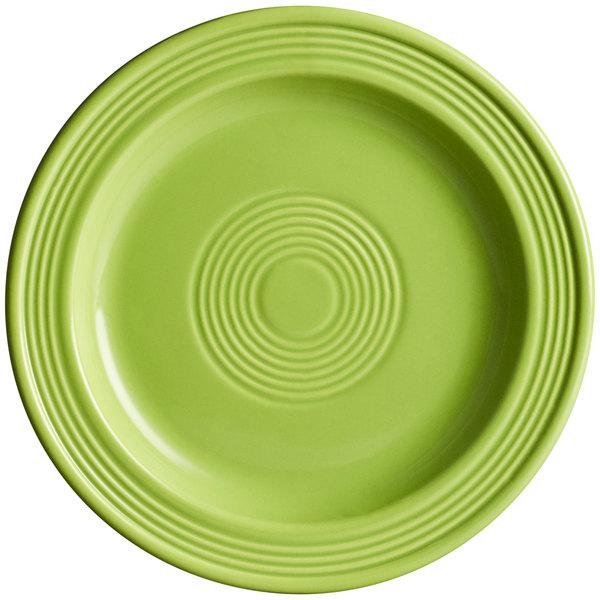 "Acopa Capri 7"" Bamboo Green China Plate - 24/Case Main Image 1"