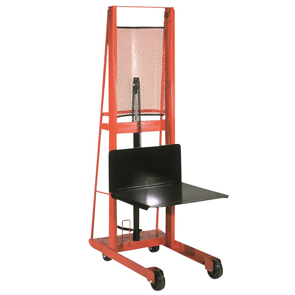 "Wesco Industrial Products 260046 Economy Series 1000 lb. Hydraulic Platform Stacker with 24"" x 24"" Platform and 80"" Lift Height Main Image 1"