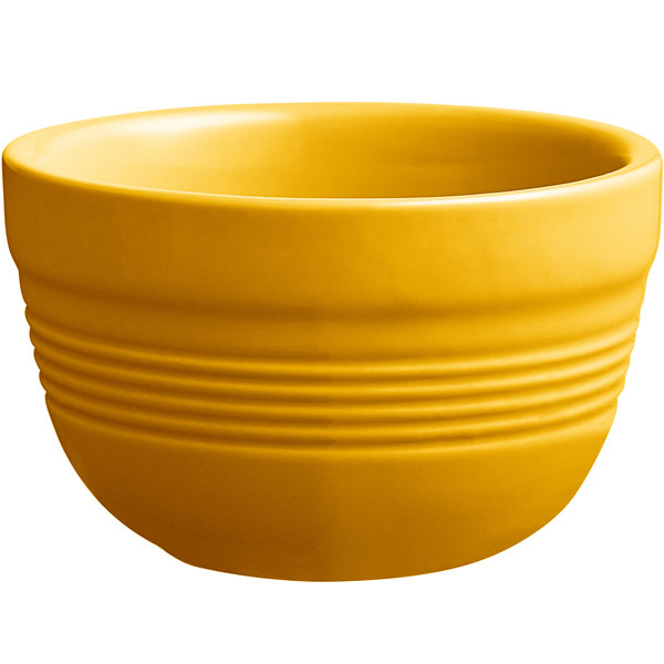 Acopa Capri 8 oz. Mango Orange China Bouillon - 36/Case Main Image 1