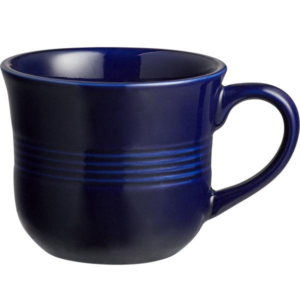 Acopa Capri 8 oz. Deep Sea Cobalt China Cup - 36/Case Main Image 1